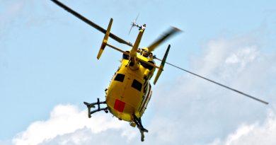 Rettungshubschraubereinsatz auf der A12