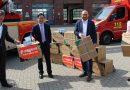 Spende aus China: Schutzausrüstung für die Doppelstadt