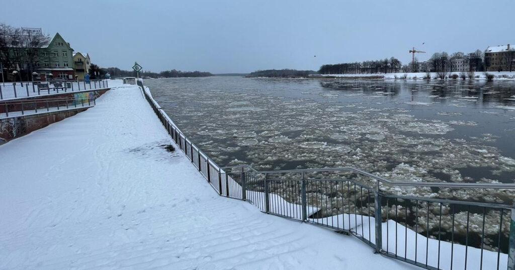 Eisbildung auf der Oder