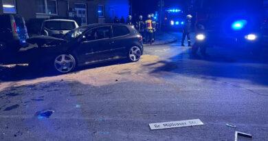 Verkehrsunfall: mit 2,18 Promille den Carthausplatz verwüstet