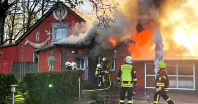 Restaurant Villa Del Lago in Flammen aufgegangen