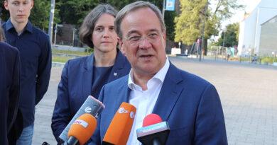 Unionskanzlerkandidat Armin Laschet in Frankfurt (Oder)