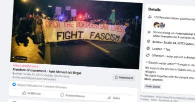 Mahnwache in Guben als Zeichen gegen Rassismus und für Asylrecht